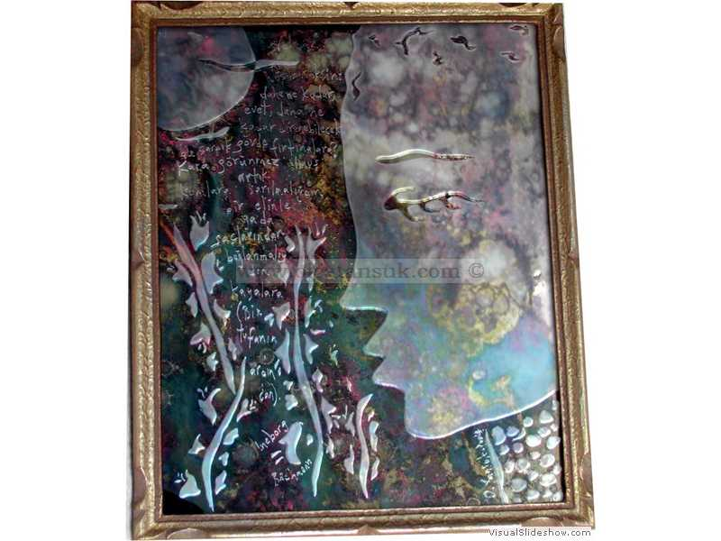Antik Ayna -  Antique Mirror 26x20cm