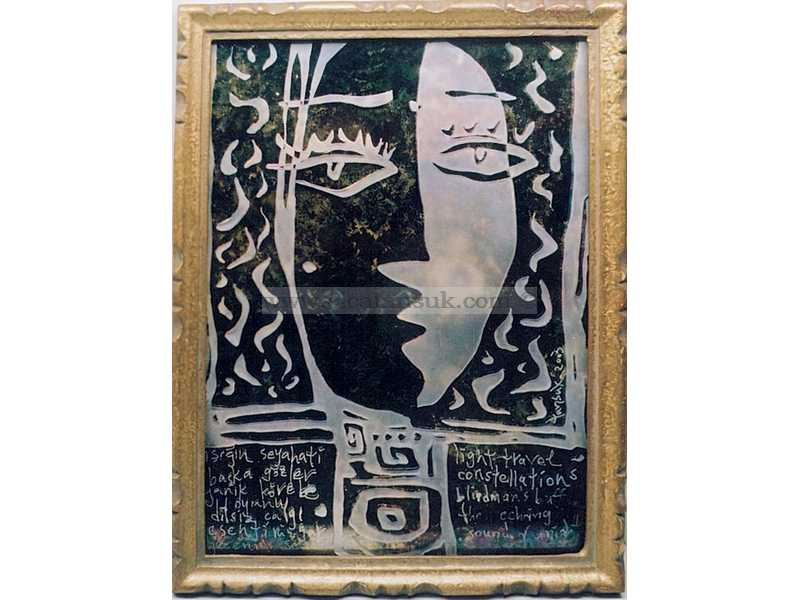 Antik Ayna -  Antique Mirror 28x20cm