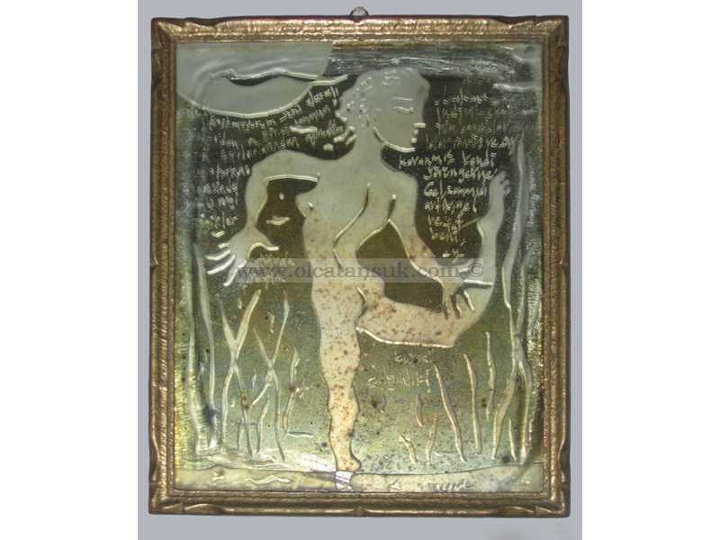 Dancer, Antique Mirror - Dansçı, Antik Ayne 32x28cm