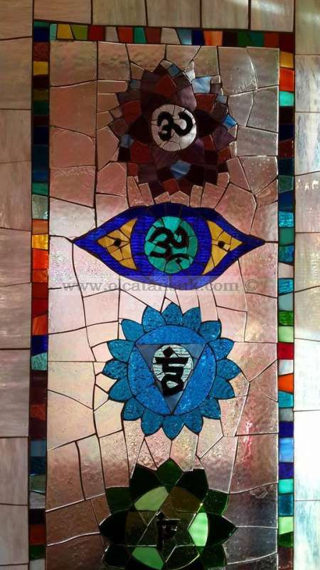 Glass Mosaic Application-Chakras - Cam Mozaik Uygulama-Çakralar