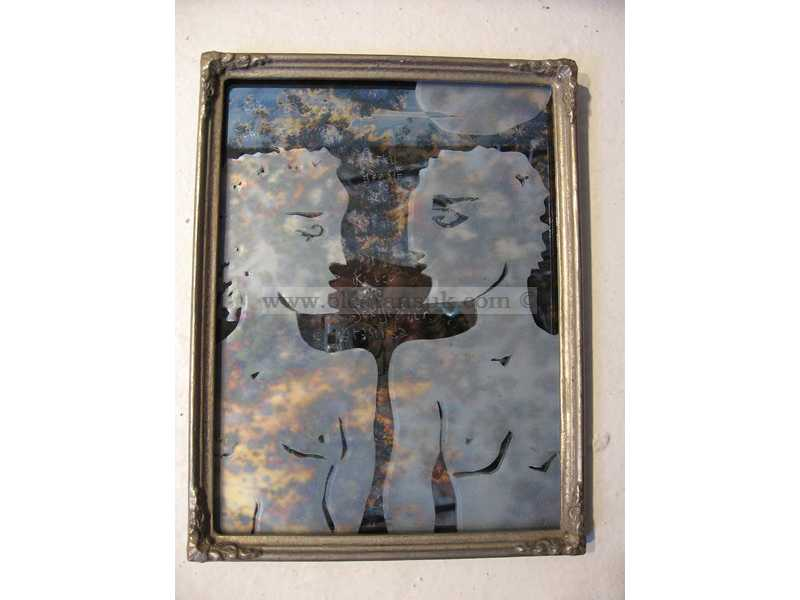 Lovers Antique Mirror - Antik Ayna 26x20cm
